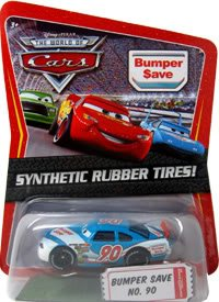 Disney / Pixar CARS Movie 1:55 Die Cast Car Motor Speedway of the South #90 Bumper Save Synthetic Rubber Tires Exclusive by Mattel