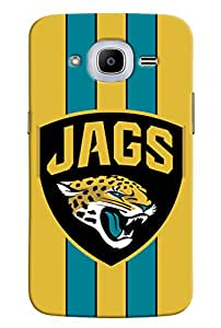 Omnam Jags With Tiger Printed With Yellow Background Designer Back Cover Case For Samsung Galaxy J2 2016