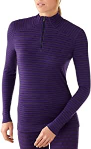 Smartwool Damen Bekleidung/NTS Midweight Pattern Zip T, imperial purple heather, XS, SS222