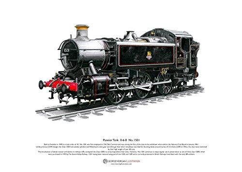 Sac réservoir 0-6-0 No.1501 - ART POSTER taille A3