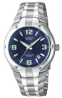 Casio #EF106D-2AV Men's Edifice 10-Year-Battery Bracelet Watch