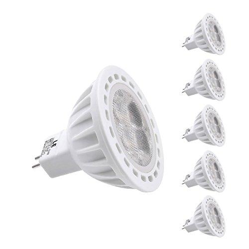 Le 4W Gu5.3 Mr16 Led Bulb, Equal To 50W Halogen Bulb, 12 Vac/Dc, Cutting Edge Design, 330Lm, Daylight White, Pack Of 5 Units