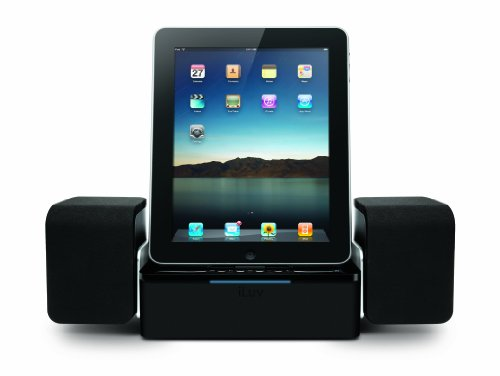 iLuv iMM747 Audio Cube Hi-Fidelity Speaker Dock for 2nd Generation Apple iPad 2 WiFi / 3G Model 16GB, 32GB, 64GB NEWEST Model & for Apple iPhone 4 (Black)