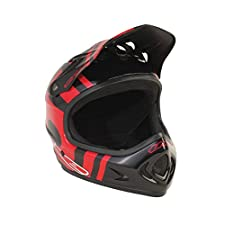 T.H.E. Industries Adult The Point5 Abs Helmet, Medium, Slant Black/Red