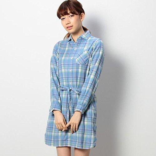 コーエン(レディース)(coen) ダブルガーゼアラビキチェックシャツワンピース【ライトブルー/L(70)】