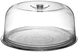 Bormioli Rocco Ginevra Cake Platter With Plastic Dome, Gift Boxed by Bormioli Rocco