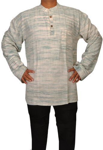 Designed Mens Casual Cotton Khadi Short Kurta Fabric For Winter & Summers Size-5XL