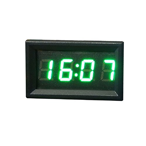 Tonsee Car Motorcycle Accessory 12V/24V Dashboard LED Display Digital Clock(Green) (Car Led Digital Clock compare prices)