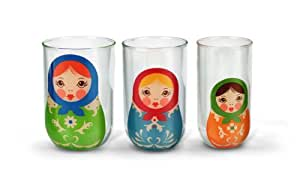 Fred Babushkups Nesting Glasses, Multi-Colour