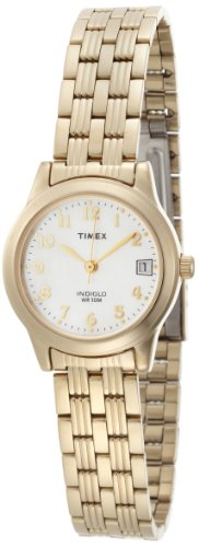 Timex Women's T2N253 Analog Gold-Tone Case and Bracelet Dress Watch