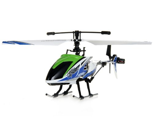 FD1098 4-Channel Alloy RC Helicopter (Green)