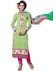 Craftliva Exclusive Embroidered Designer Parrot Straight Suits