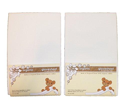 BabySecurity-Lenzuolo con angoli in cotone organico per Chicco Next & Lullago Me 2, colore: bianco (confezione da 2)