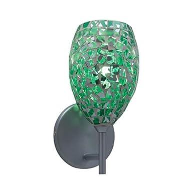 JESCO WS232-EM/CH Mosaic Glass Wall Chrome