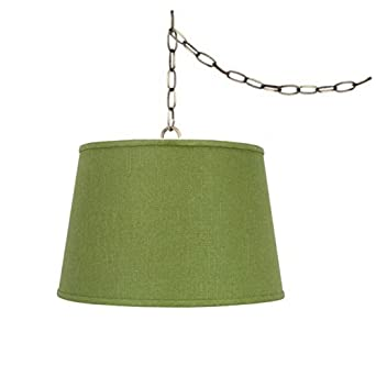 swag lamp light pendant plug in chain hung apple green lamp ceiling. Black Bedroom Furniture Sets. Home Design Ideas