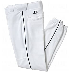 Russell Youth Piped Baseball Game Pants X-Large White/Black