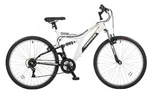 Townsend Mohawk Mens Dual Suspension Bike - White / Black, 26-inch