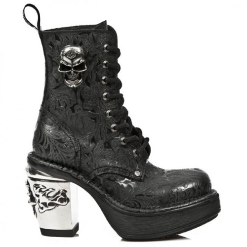 New Rock, Stivali donna Nero nero, Nero (nero), Ladies UK 5 EU 38