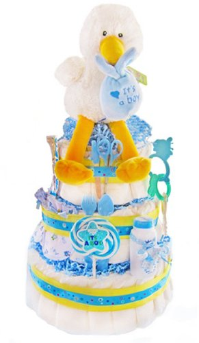 Special New Baby Gift Ideas : Bluiren sale special delivery new baby diaper cake for