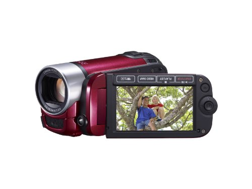 Canon LEGRIA FS406 Camcorder - Red (37x Optical Zoom, 2.7 inch Widescreen LCD)