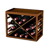 12 Bottle X Cube-Stack Wine Rack (Light Finish