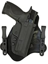 Minotaur MTAC Holster - Black Leather Backing - 1.25 Black Standard ClipsS&W M&P ShieldRight