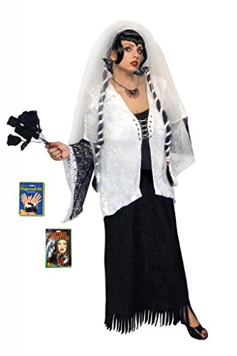 Gothic Zombie Ghost Bride With Wig Deluxe Plus Size Supersize Halloween Lg to 9x