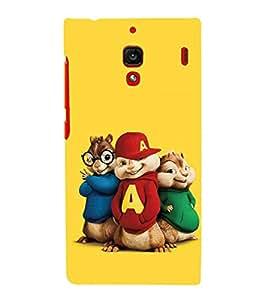 printtech Chipmunks Cartoon Squirrel Back Case Cover for Xiaomi Redmi 1S::Xiaomi Redmi (1st Gen)
