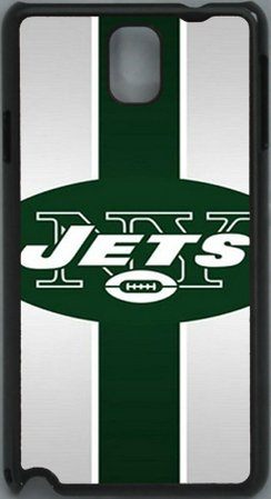#1  NFL New York Jets PC Hard Shell Black Skin Cover Case for Samsung Galaxy Note 3 N9000 by Qinchao Sports #87
