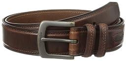 Columbia Men\'s 40mm Oil Tan Leather Edge Belt,Brown,44