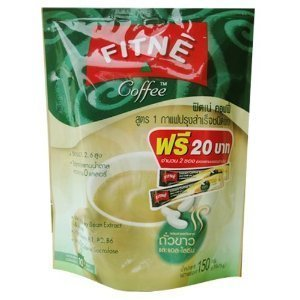 Fitne Instant Coffee Mixed White Kidney Bean Extract L Lysine 15G.Pack 10Sachets
