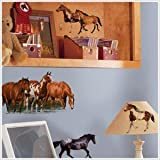 24 New WILD HORSES WALL DECALS Horse Room Stickers Kids Bedroom Decor:New free shipping by WW shop