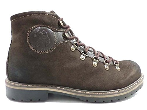 scarpe uomo U.S. POLO ASSN. 44 stivaletti camoscio marrone AY712