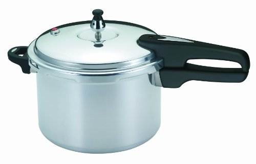 Mirro 92160A Polished Aluminum Dishwasher Safe PFOA Free Pressure Cooker Cookware, 6-Quart, Silver