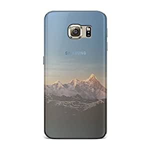 Samsung S6 Transparent Printed Design [Scratchproof + Protective] - Snow Mountain Peak Case