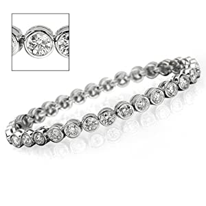 12.40 ct Womens Diamond Bracelet - Eye Clean