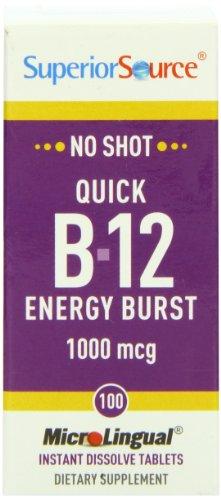 Superior Source Quick B-12 Energy Burst Multivitamin, 100 Count
