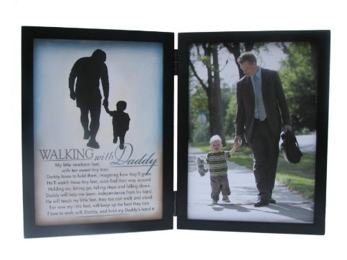 The Grandparent Gift Co. Silhouettes Frame, Walking with Daddy
