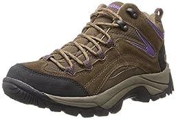 Northside Women\'s Pioneer Hiking Boot, Medium Brown/Dark Purple, 8 M US