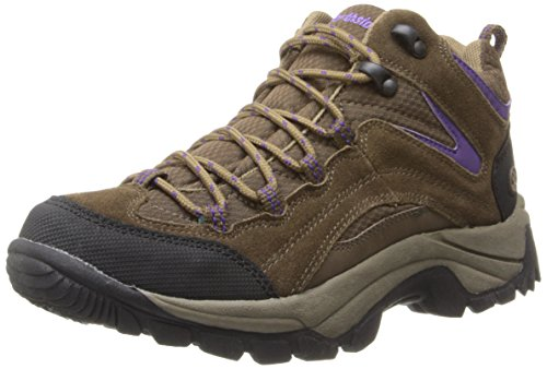 Northside Women's Pioneer Hiking Boot, Medium Brown/Dark Purple, 8 M US