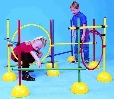 Gym & Spiel Garten Spiele Aktivitäten Motorik Hindernisparcours Pfosten / Reifen-Klipp - Eine Größe, Pfosten / Reifen Klammern