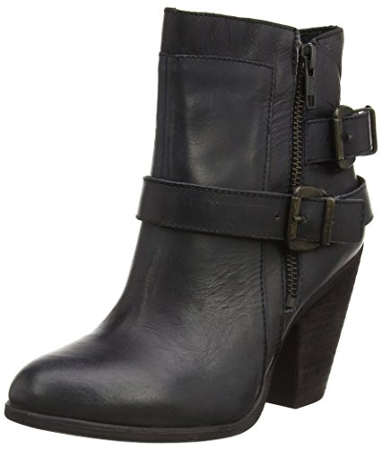 Steve Madden Nothern - Stivaletti alti da donna, nero (black leather), 38