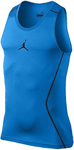 Nike Jordan Men's AJ All Day Compression Dri-FIT Training Tank Top (Photo Blue/Black, Large)