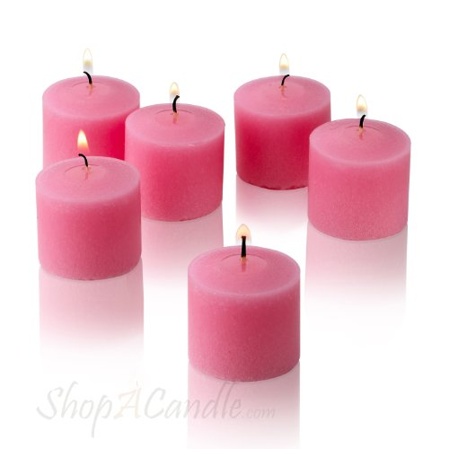 Pink Rose Garden Scented Votive Candles (Set of 12)