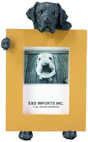 """Black Labrador Retriever 2.5"""" x 3.5"""" Dog Photo Frame"""