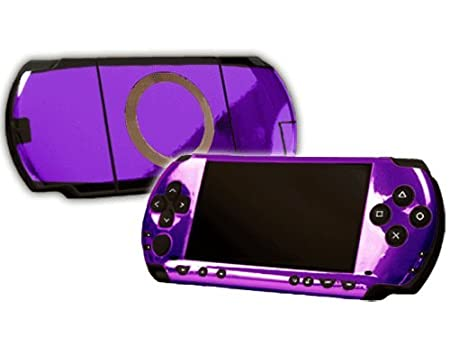 PlayStation Portable 1000 (PSP) Skin - NEW - PURPLE CHROME MIRROR system skins faceplate decal mod