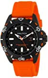 Nautica Men's N11619G Stainless Steel Watch with Orange Band