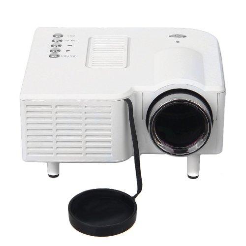 Floureon® Portable Mini Led Portable Projector 320X240 Av Vga Sd Usb Hdmi Slot With Remote Control, White