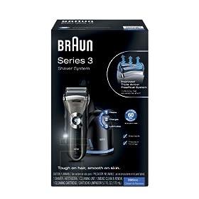 (暴跌)博朗Braun 3Series 390CC-4 Shaver剃须刀带自动清洁桶,折后$85.34