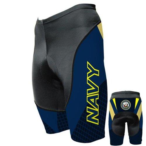 Old Glory Mens US Navy - Team Cycling Shorts - Small Dark Blue